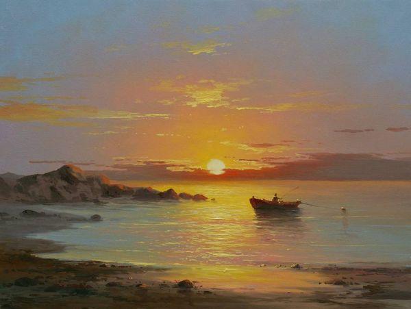 Лодка и закат